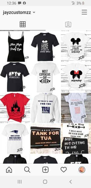 Disney shirts /custom /car decals for Sale in Coral Springs, FL