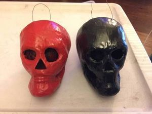 Red and Black Skull Decorations / Ornaments for Sale in Chicago, IL