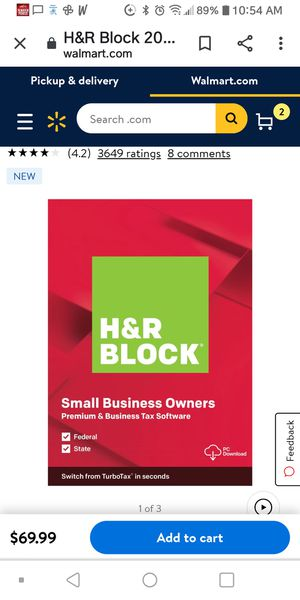 H&R Block 2019 software small business owners for Sale in Sacramento, CA