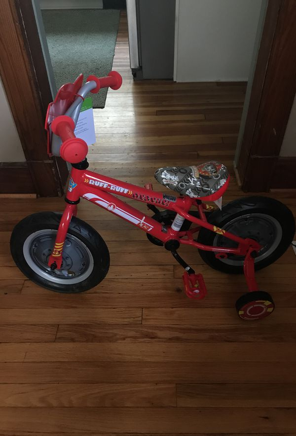 """Brand New Paw Patrol 12"""" Marshall kids bike and Chase 3D Helmet for Sale in  Binghamton, NY - OfferUp"""