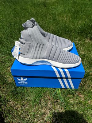 Adidas 10.5 Crazy 1 ADV Sock Primeknit 'Light Grey' for Sale in Fitchburg, MA