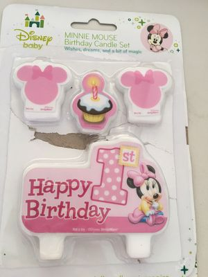 Unused Minnie Mouse Birthday Candles For Sale In Queens NY