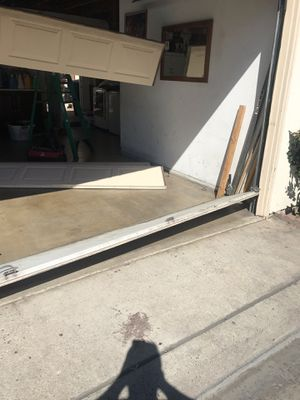 Garage doors repair and replace new doors replace doors jams cables openers rollers tracks $1 for Sale in Anaheim, CA