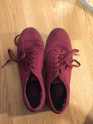 Maroon Vans 8.5 women's *moving sale* for Sale in Portland, OR