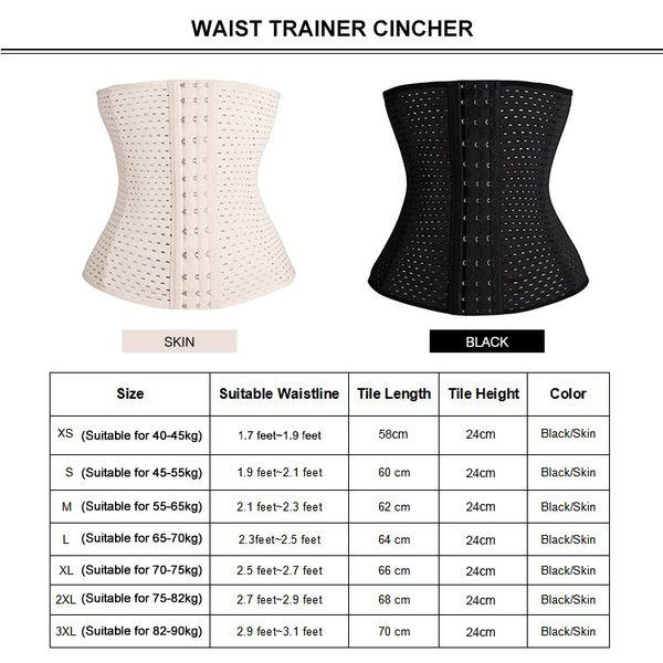 Black/Beige Waist Trainer Corset