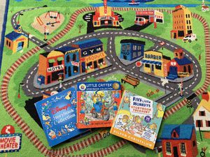 Car Rug and Storybooks of 35 stories $25 for Sale in Leavenworth, WA
