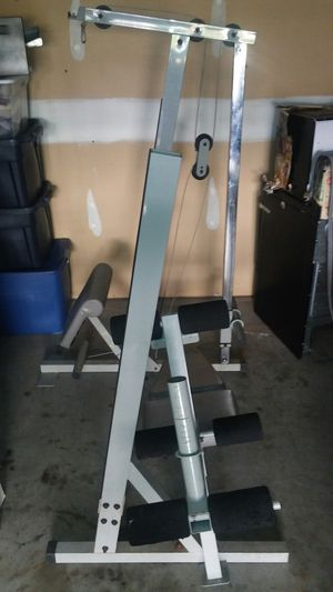 Image pro weight bench w/latt and leg curl for Sale in McDonough, GA
