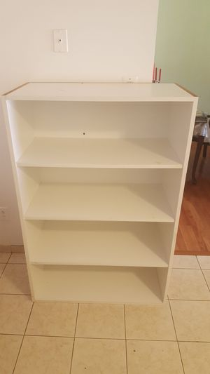 Deep white bookcase for Sale in Herndon, VA