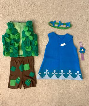 TROLLS: Poppy and Branch Costumes- Toddler Size 2T for Sale in Los Angeles, CA