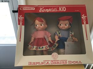 Campbell soup vintage replica dolls brand new for Sale in Redford Charter Township, MI