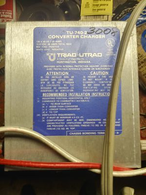 Triad converter/ charger 40 amp max for Sale in Lakeview, OH