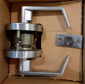 (4) Global Commercial Keyed Entry Door Lever GAL-1151L-626 Eifel style for Sale in Greensboro, NC