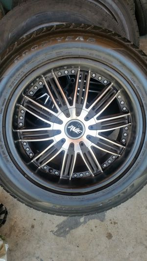"""Wheels and tires 18"""" chevy 5 lug for Sale in Riverside, CA"""