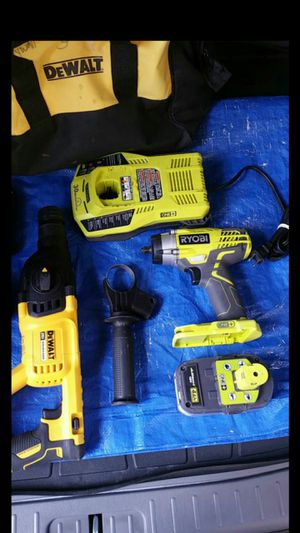 $300. DEWALT HAMMER DRILL+RYOBI 3/8 IMPACT WRENCH. COMBO NOT PARTING OUT for Sale in Evergreen, CO
