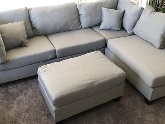 """Only $50 Down ! New Reversible Sectional Grey 104"""" X 75"""" Free Delivery ! for Sale in Ontario,  CA"""