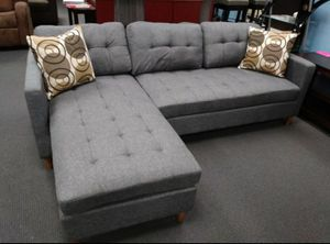 Brand New Grey Linen Sectional Sofa Couch for Sale in McLean, VA