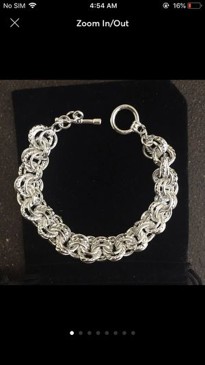 Sterling silver plated 32.4g women's jewelry accessory fashion bracelet for Sale in Silver Spring, MD