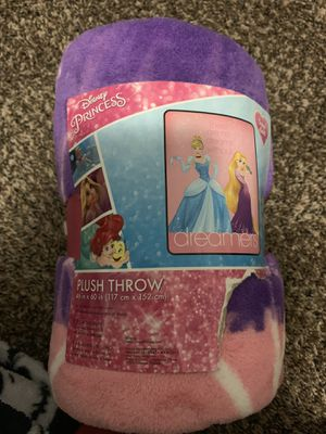 Disney Princess throw blanket Cinderella and Rapunzel for Sale in Las Vegas, NV