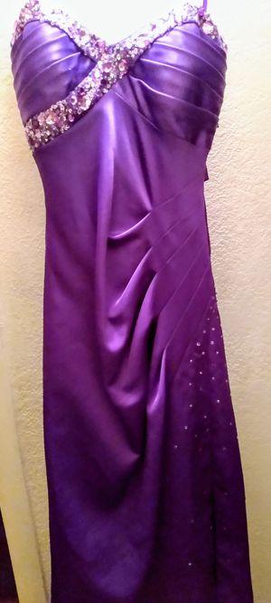 Purple Satin & Jeweled Gown Dress-$25 each for Sale in Glendale, AZ