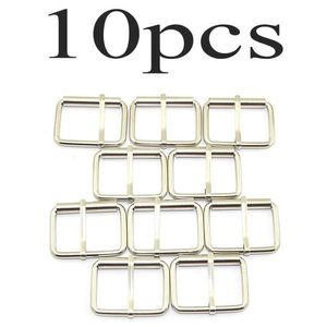 """10pcs 1-1/2"""" Silver Belt Buckle with Roller Adjustable Rectangle Ring Tri-Glide DIY Leather Craft Garment Accessories for Shoes Backpack Clothes Bag for Sale in Las Vegas, NV"""