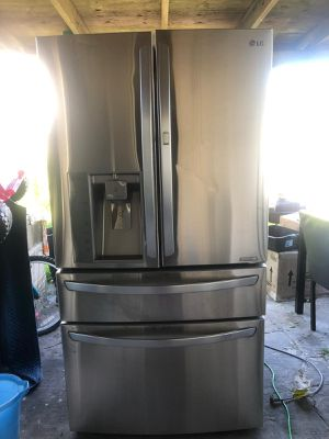 Stainless steel Refrigerator four door. for Sale in Houston, TX