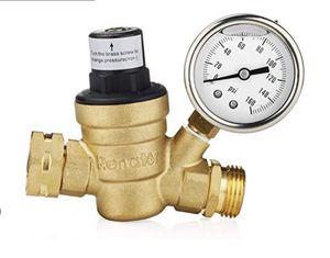Renator M11-0660R Water Pressure Regulator Valve. Brass Lead-Free Adjustable Water Pressure Reducer with Gauge for RV Camper, and Inlet Screened Filt for Sale in Las Vegas, NV
