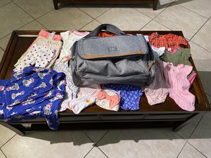 Baby Girl Clothes Pre-Owned in like new condition and New baby gear bag included for Sale in Miami Lakes, FL