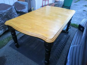 """Dining Table pretty good shape solid wood 70"""" 42"""" 30"""" can help load in need - Thanks for Sale in Federal Way, WA"""