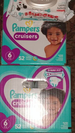 Pampers an wipes sz.6 5 4 pull ups too for Sale in Auburn, WA