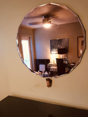 """Vintage """"Art Deco"""" peach tone Wall Mirror for Sale in Fort Lauderdale, FL"""