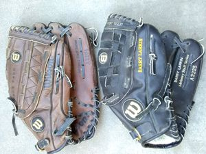 2 Wilson baseball gloves & conditioner for Sale in Pleasanton, CA