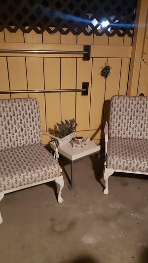 Antique metal chairs white color for Sale in San Diego, CA