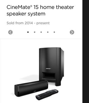Bose CineMate 15 home theater for Sale in San Diego, CA