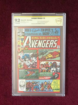 Avengers Annual #10 signed and graded comic book for Sale in Fort Washington, MD