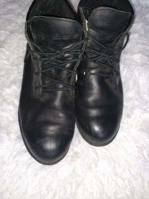 Black leather Timberland Boots Men for Sale in NO POTOMAC, MD