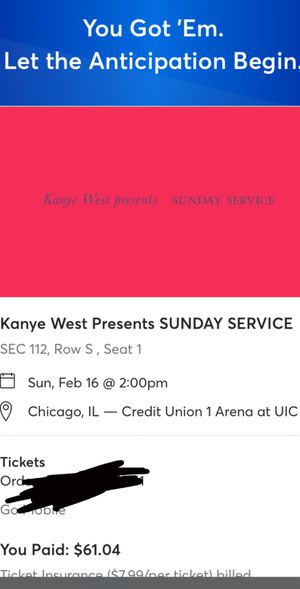 Kanye west Sunday service all star weekend for Sale in Glenwood, IL