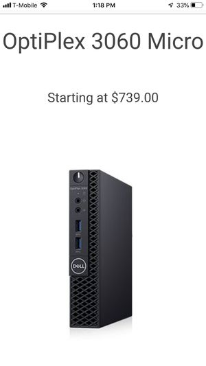 Dell micro 3040 desktop quad core i5 CPU 12GB RAM 256 GB SSD for Sale in Westchester, IL