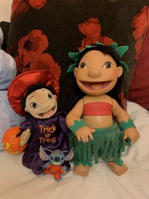 Lilo and Stitch talking doll + plushie for Sale in La Puente, CA