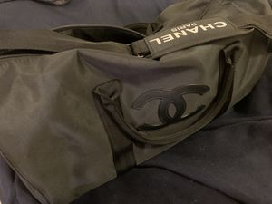 CHANEL Black Canvas Duffel Travel Weekender Bag VIP gift Promo Limited for Sale in Queens, NY
