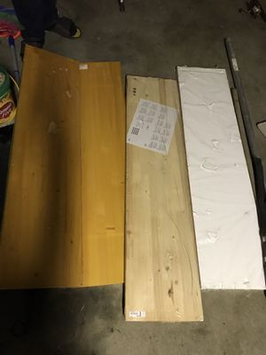 Moving Sale! Brand new Wood wall shelvings 4 layers $10 for all for Sale in West Covina, CA