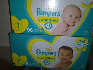 PAMPERS SWADDLERS SIZE 1&2 for Sale in Orlando, FL