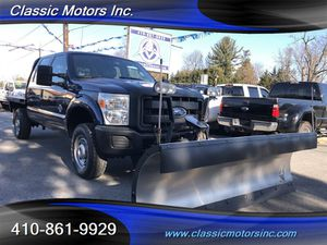 2011 Ford F-350 CrewCab XL SNOW PLOW/FLAT BED 4X4 for Sale in Finksburg, MD