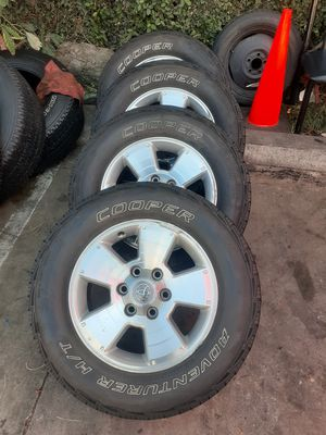 "Tacoma rims with tires 265 65 17"" for Sale in Pasadena, CA"