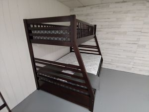 Brand new espresso color bunk beds, can be split into two separate frames. $53 down no credit needed for Sale in Nampa, ID
