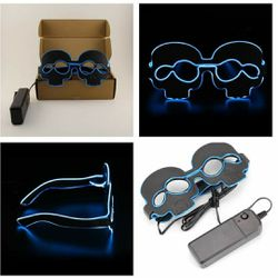 New Blue Light Up Led Flashing Skull Glasses for Sale in San Angelo,  TX
