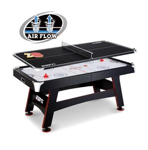 ESPN 72 inch air powered hockey table with table tennis top and in rail soccer for Sale in Austin, TX