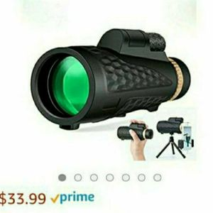 Monocular Telescope Adults with Tripod - HD Monocular Night Vision New Generation with Smartphone Portable Telescope for Bird Watching monocular for Sale in Las Vegas, NV