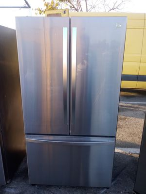 Kenmore french door refrigerator/3 month warranty and free local delivery for Sale in San Fernando, CA