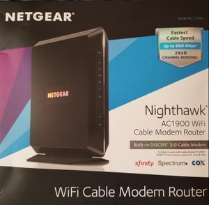 Netgear Nighthawk AC1900 Cable Modem Router for Sale in Fort Lauderdale, FL