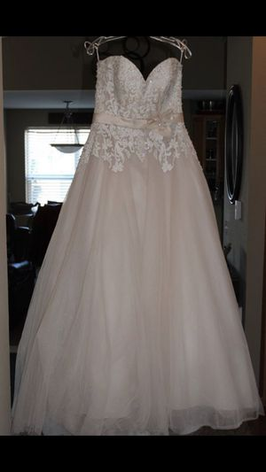 Stunning Champagne Wedding Dress by Ella Rosa for Sale in Tualatin, OR
